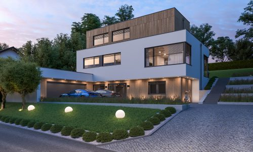 Single Family House Architectural Rendering – Rottenburg an der Laaber