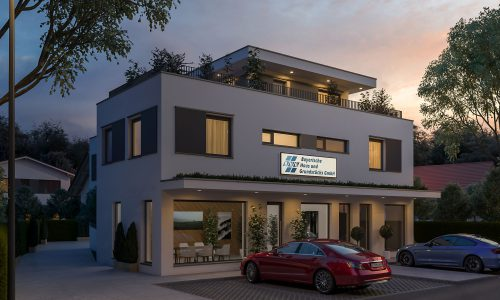 Exterior Architectural Rendering – Winzer – Mixed-use development